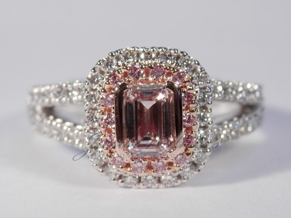 0.52 Ct. Pink Emerald Ring